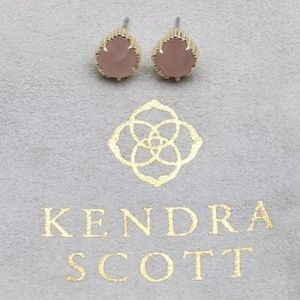 "Kendra Scott ""Tessa"" Gold & Rose Quartz Earrings"